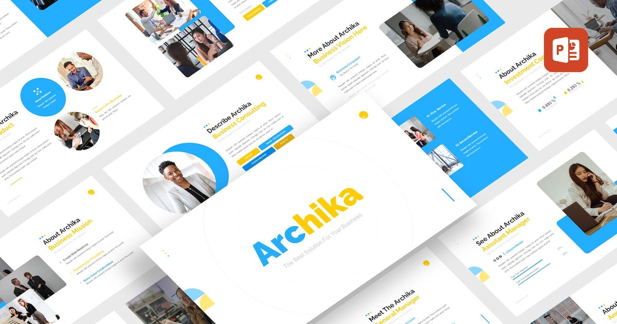 Download Archika - Business Consulting PowerPoint Template by CocoTemplates
