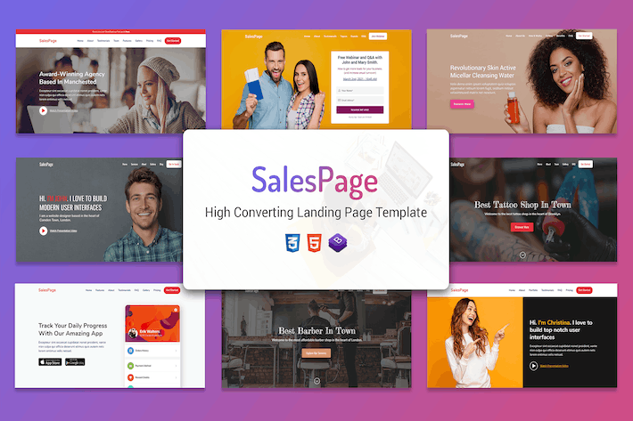 Thumbnail for SalesPage - Apps, Business & Agencies Landing Page