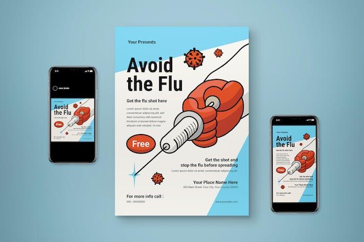 Flu Vaccine Flyer Set