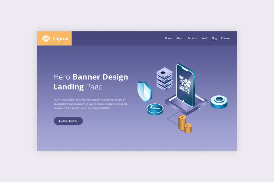 Leprox - Hero Banner Template