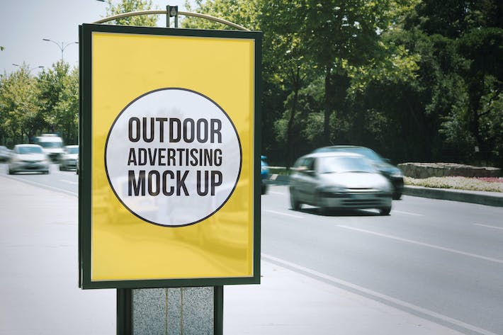 Thumbnail for Outdoor Advertisement Mockup Template #9