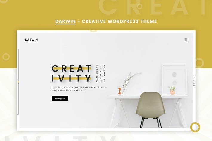 Thumbnail for Darwin | Creative WordPress Theme