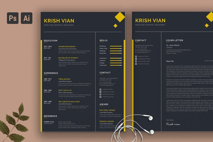 Thumbnail for Clean Business Resume CV Vol. 16