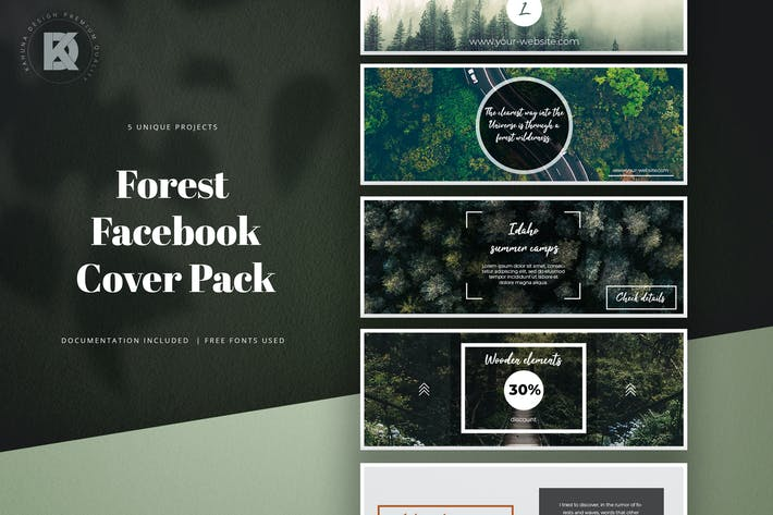 Thumbnail for Forest Facebook Cover Kit
