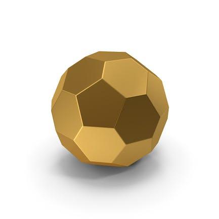 Sechseck-Kugel Gold