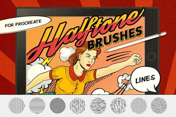 Thumbnail for Vintage Comics: Line Procreate Brushes