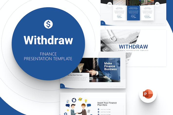 Withdraw Finance Powerpoint Template