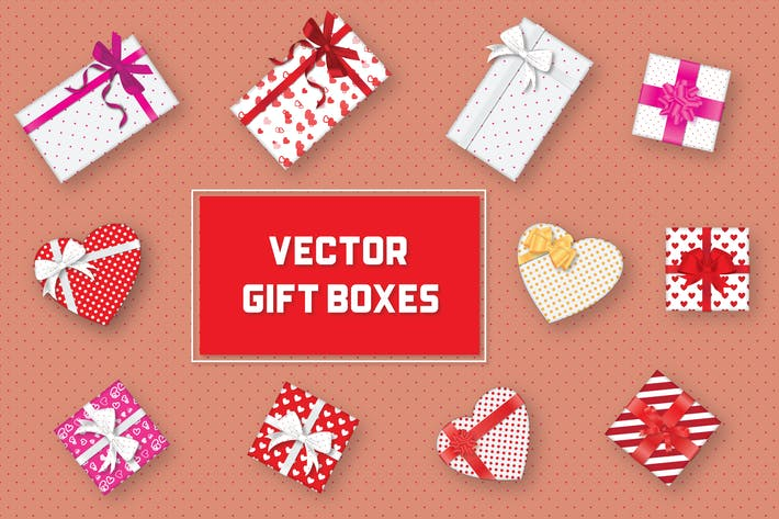 Cover Image For Vector Gift Boxes