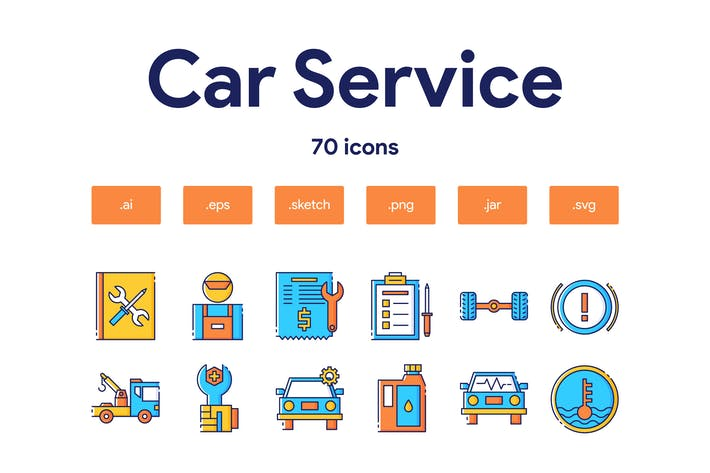 Thumbnail for Car Service Icon Set