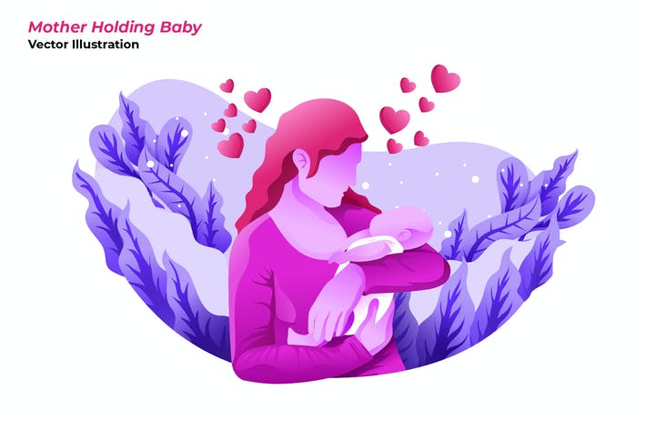 Mother Baby - Vector Illustration