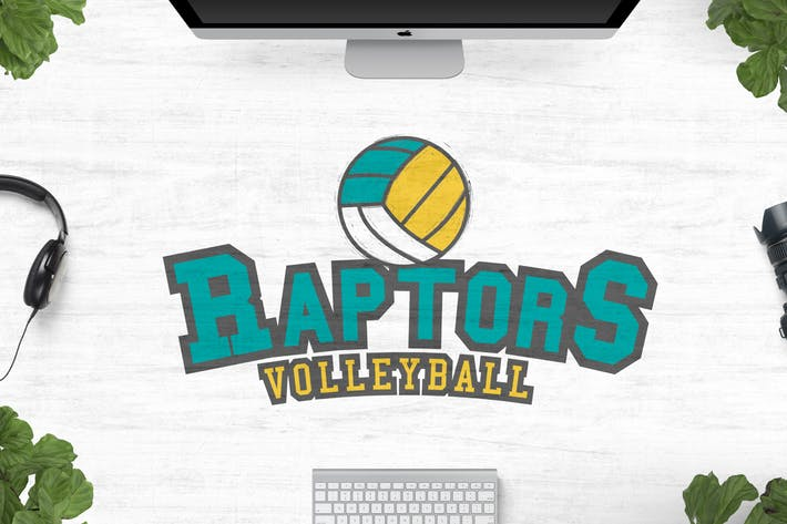 Thumbnail for Raptors Volleyball Logo
