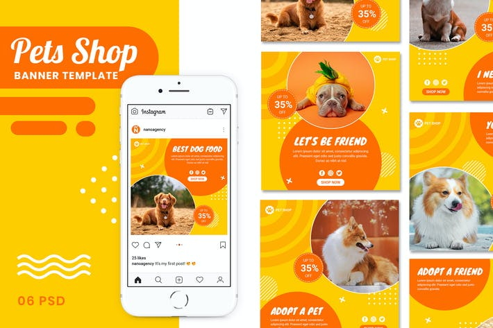 Thumbnail for Pets Shop Instagram Post Collection Banner