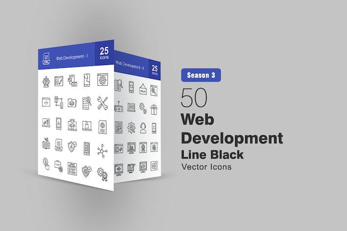 Thumbnail for 50 Web Development Line Icons