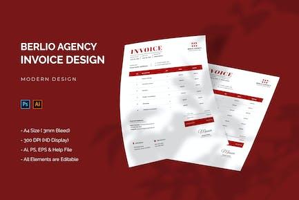 Berlio Agency - Invoice Template