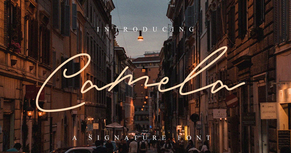 Download Camela - Beauty Signature Font by Graphicfresh