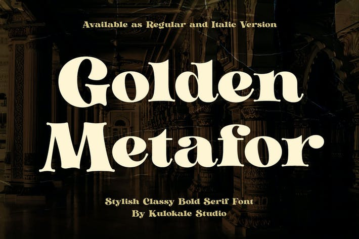 Thumbnail for Golden Metafor - Vintage Serif Font
