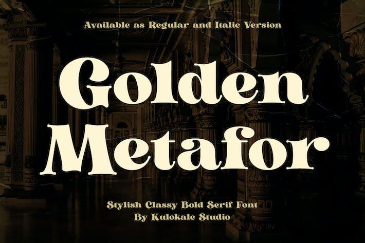 Golden Metafor - Fuente Con serifa Vintage