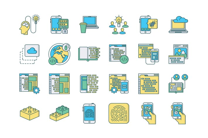 Thumbnail for 57 Web & Mobile Development Icons