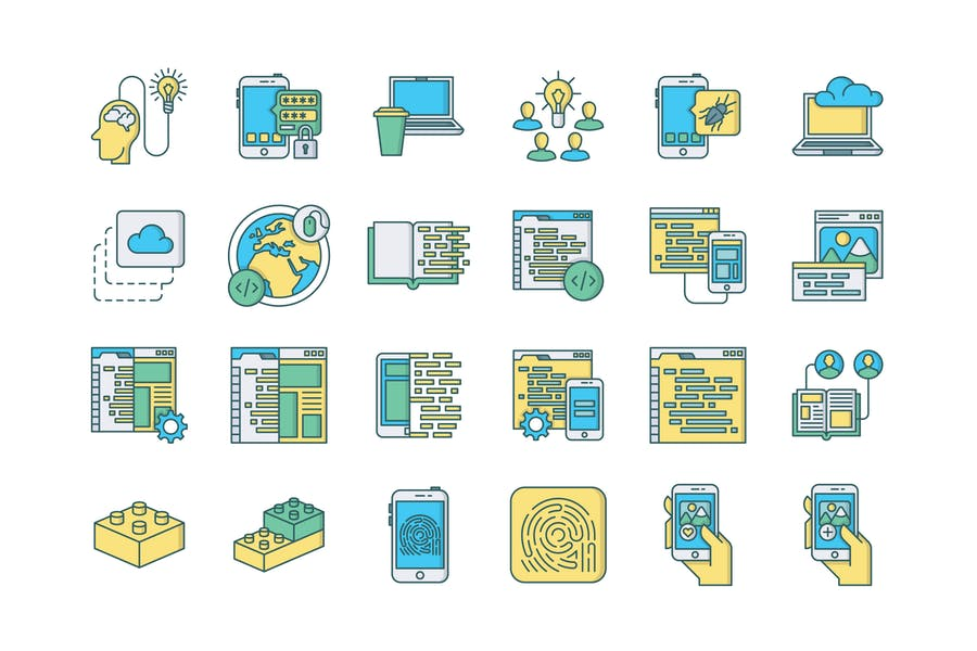 57 Web & Mobile Development Icons