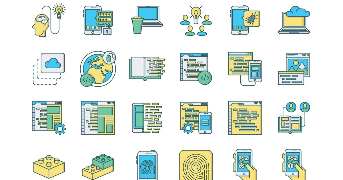 Download 57 Web & Mobile Development Icons by polshindanil