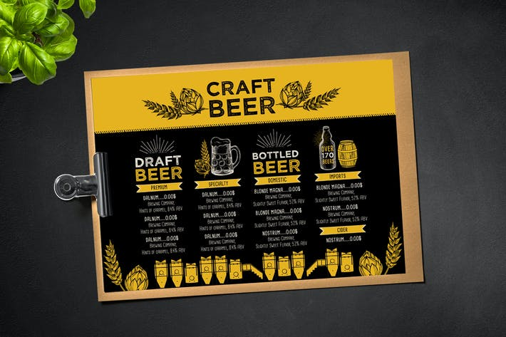 Thumbnail for Beer Menu Brochure