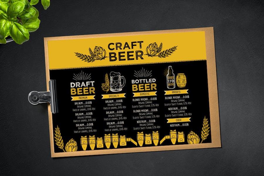 Beer Menu Brochure