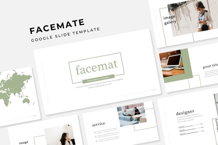 Thumbnail for Facemate - Google Slide Template