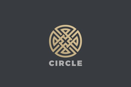 Logo Circle Cross Infinity Loop Labyrinth Maze