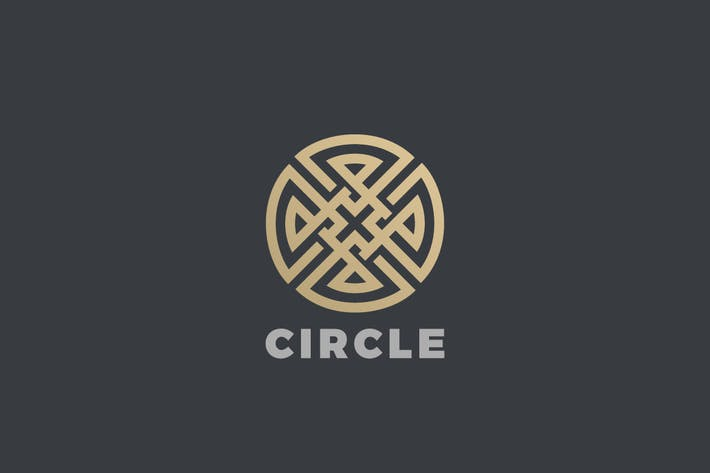 Logo Circle Cross Infinity Loop Labyrinth Maze