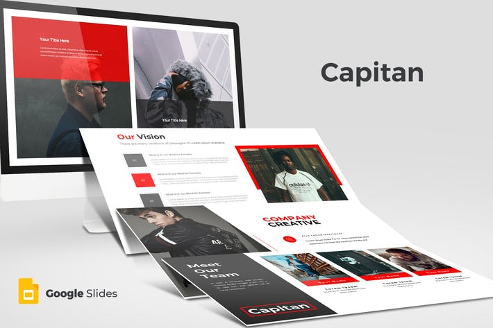 Thumbnail for Capitan - Google Slides Template