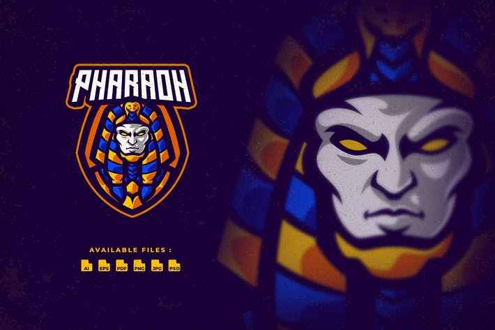 Thumbnail for Логотип персонажа фараона