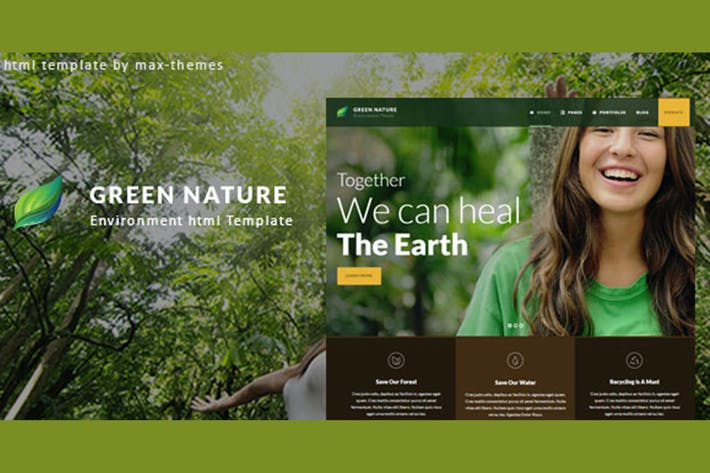 Thumbnail for Green Nature - Environmental HTML Template