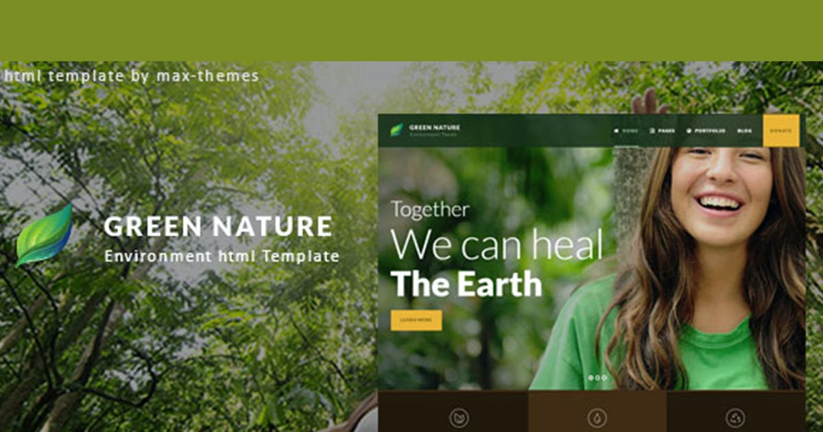 Download Green Nature - Environmental HTML Template by max-themes