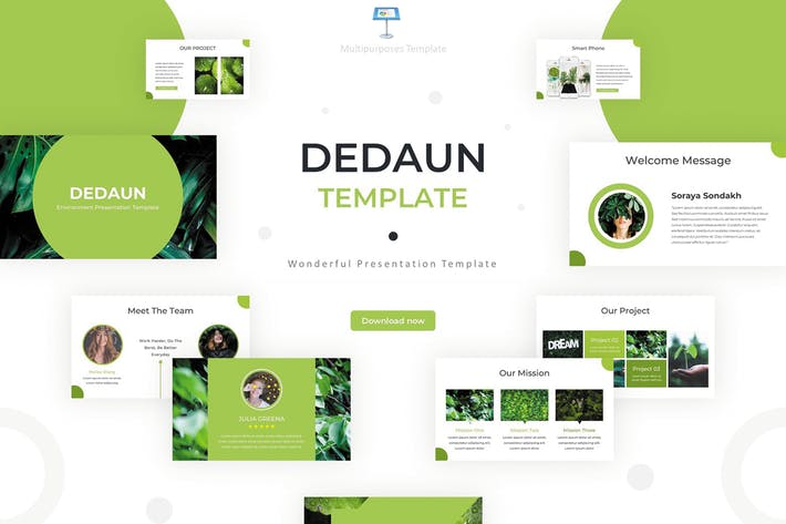 Thumbnail for Dedaun - Keynote Template