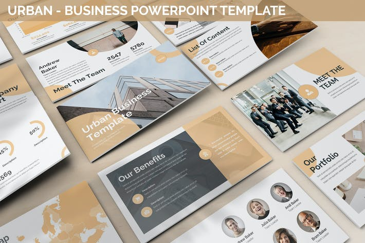 Thumbnail for Urban - Business Powerpoint Template