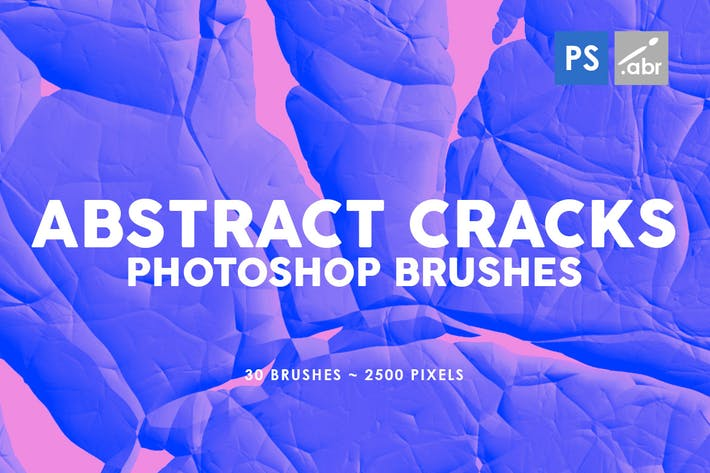 Cover Image For 30 Abstract Cracks Photoshop Stamp Brushes