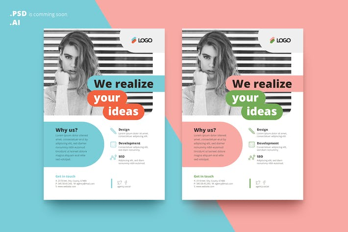 Corporate Flyer AD Template By Yulko On Envato Elements - Product ad template