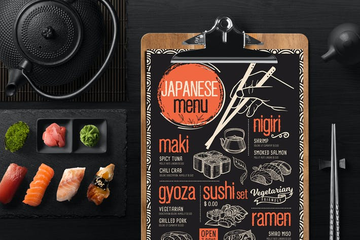 Thumbnail for Asian Food Menu Template