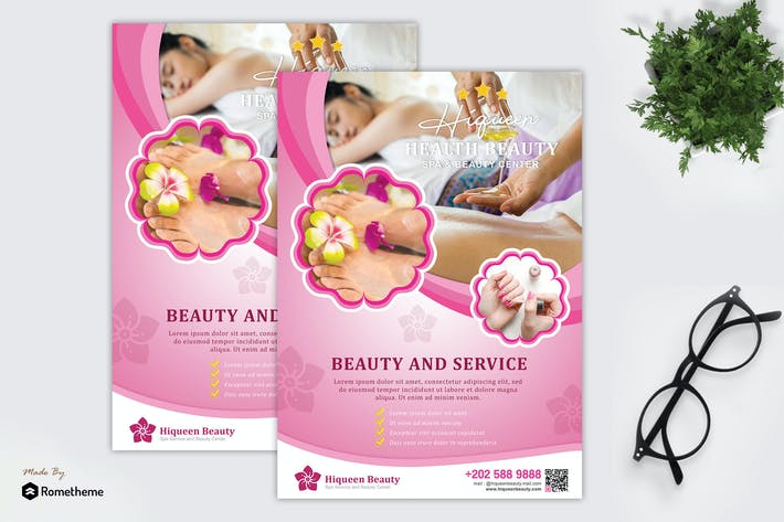 Thumbnail for Hiqueen - Spa and Beauty Flyer Template HR