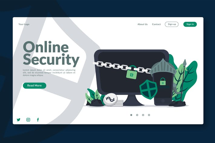 Thumbnail for Digital Online Security - Landing-Page GR