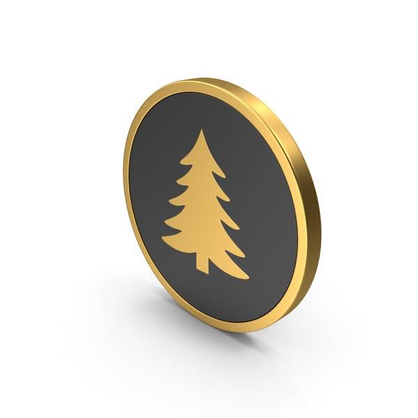 Gold Icon Pine Tree