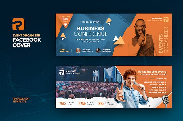Thumbnail for Event Organizer Facebook Cover Template
