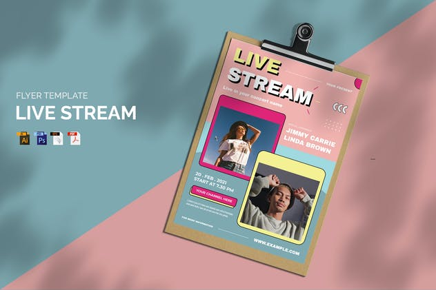 Live Stream - Flyer
