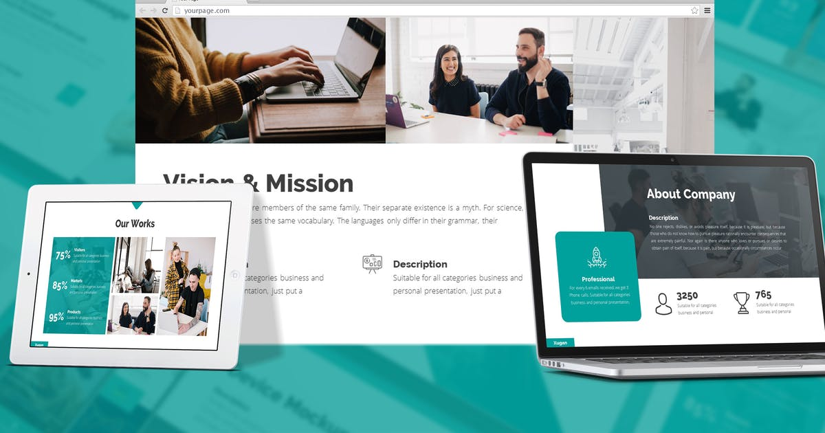 Download Xugan - Creative Agency Google Slides Template by SlideFactory