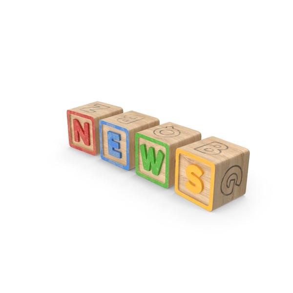 Алфавитные блоки Новости