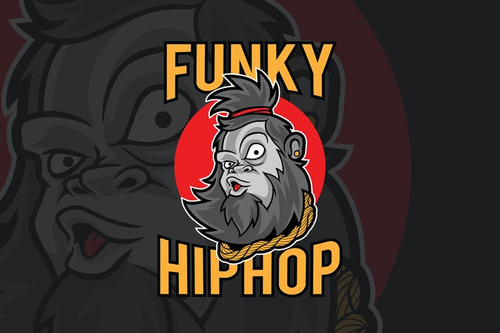 Thumbnail for Funky Ape Hiphop Vector Illustration