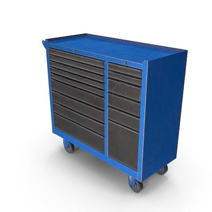 Geschlossene Werkzeugkiste blau