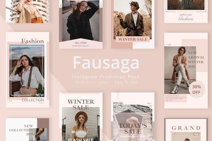 Thumbnail for Fausaga - Instagram Story Pack