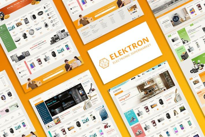 Thumbnail for Elektron - Multi-Purposes Electronics PSD Template