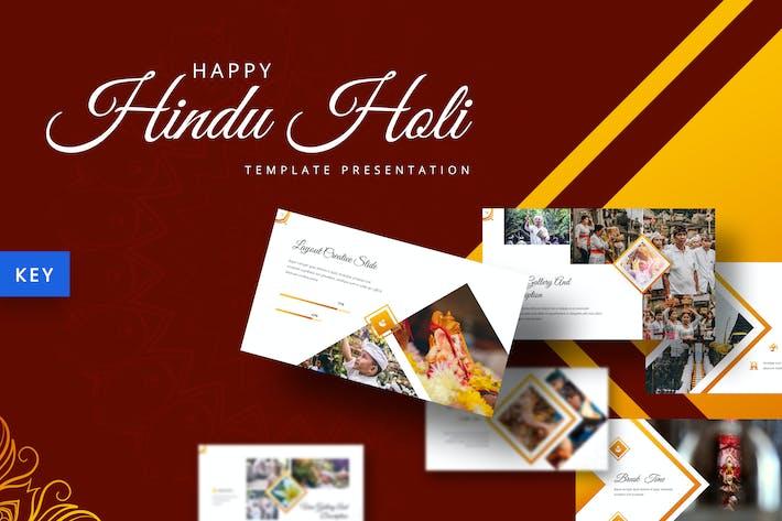 Thumbnail for Hindu Holi - Шаблон Keynote